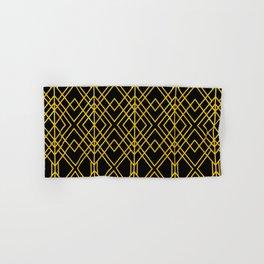 Chicago Cigar Bar Gold and Black Art Deco Hand & Bath Towel