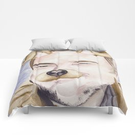 Mark Sheppard, watercolor painting Comforters