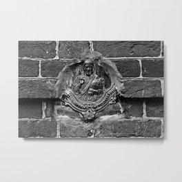 Russian Orthodox saint in the brick wall of the church (2011-7PSK32) Metal Print