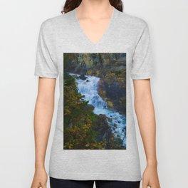 White Falls along the Berg Lake Trail in BC Unisex V-Neck