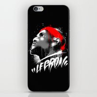 lebron iPhone & iPod Skins featuring Lebron J by squadcore
