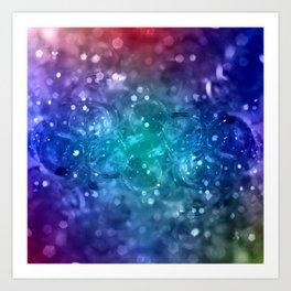 Bubbles in blue Art Print