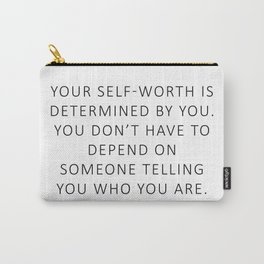 Queen Bey Quote - self worth Carry-All Pouch