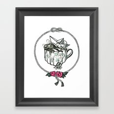 Storm in a teacup Framed Art Print