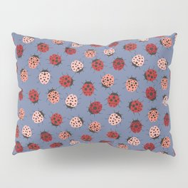 All over Modern Ladybug on Plum Background Pillow Sham