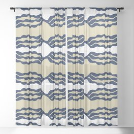 Modern waves of energy #641 Sheer Curtain