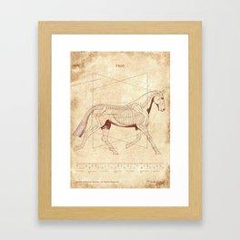 Da Vinci Horse: The Trot Revealed Framed Art Print