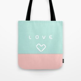 Paper love on mint green Tote Bag
