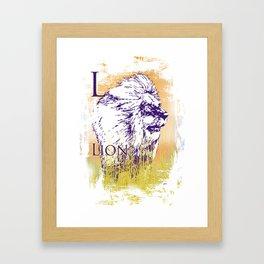 L Lion Framed Art Print