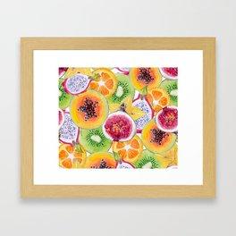Tutti Frutti summer delight Framed Art Print