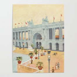Colonnade at 1893 World's Fair in Chicago Poster