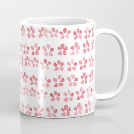 Floral Pink - nature spring watercolour pattern Coffee Mug