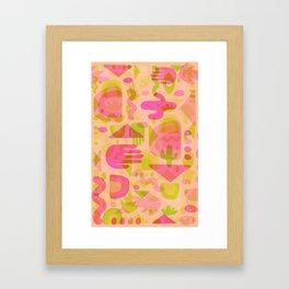 Colorful Cutout Print Framed Art Print