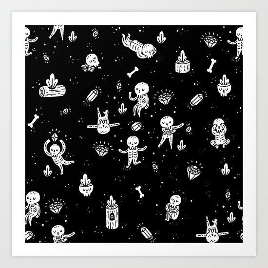 Skeletoile Art Print