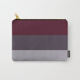 scandinavian moody winter fashion dark red plum burgundy grey stripe Carry-All Pouch