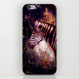 Celestial Zebra of the Equidae Eclipse iPhone Skin