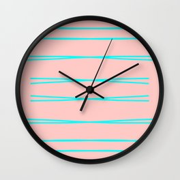 With A Twist Of Mint Wall Clock