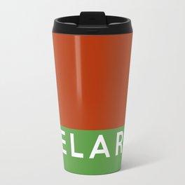 belarus country flag name text Travel Mug
