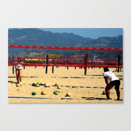The Volleyball Lesson Canvas Print
