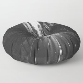 New York City (Black and White) Floor Pillow