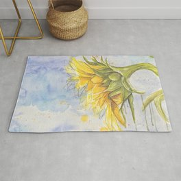 Helianthus annuus: Sunflower Abstraction Rug