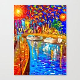 River Side Scene Canvas Print