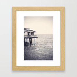 Santa Barbara Pier Framed Art Print