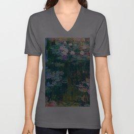 water lilies : Monet Unisex V-Ausschnitt