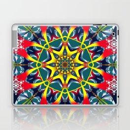 Decorative Winter Star and Snowflakes Laptop & iPad Skin
