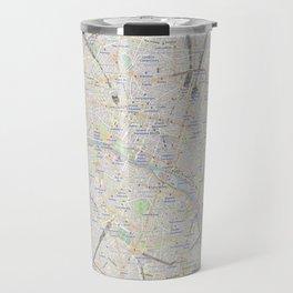 map of Paris – France, French,city of light,seine, parisien, parisian. Travel Mug