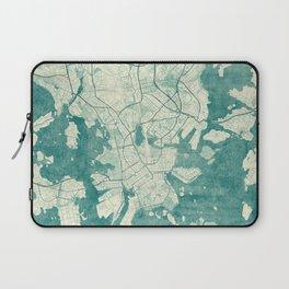 Helsinki Map Blue Vintage Laptop Sleeve