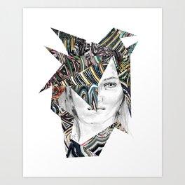 Origami Girl Two Art Print