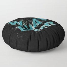 Teal Blue Whatever Floor Pillow