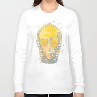 c3po Long Sleeve T-shirts featuring C3PO Splash by Sitchko Igor