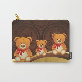 Teddy bear with red bow Carry-All Pouch