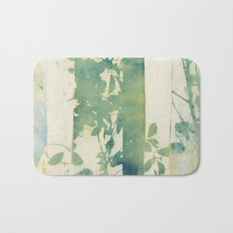 Leaves and Layers Cyanotype Bath Mat