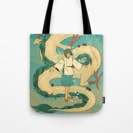 Haku and Chihiro Tote Bag
