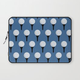 Golf Ball & Tee Pattern (Blue) Laptop Sleeve