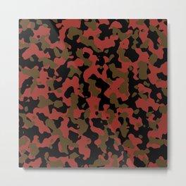 Funky Camouflage Metal Print