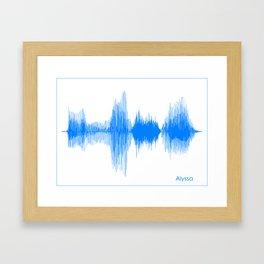Alyssa Blue Framed Art Print