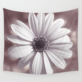 White Daisy Wall Tapestry
