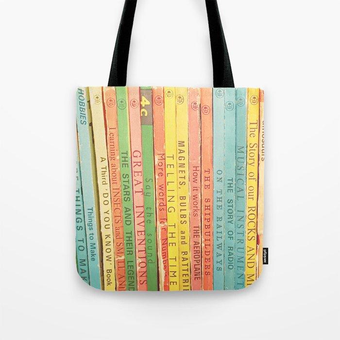Storytime vintage book photograph Tote Bag