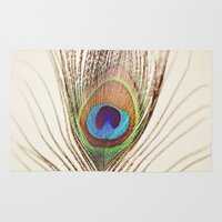 peacock Area & Throw Rugs featuring Peacock by Laura Ruth