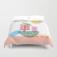 Still Life with Egg & Worm Duvet Cover