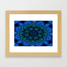 Battling At The Chasm Mandala 10 Framed Art Print