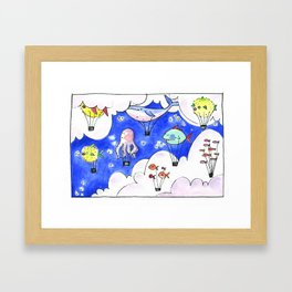 Travelling Postcard #2 - Up there Framed Art Print
