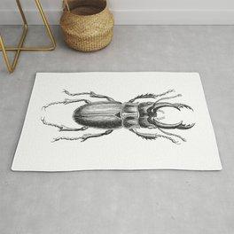 Vintage Beetle black and white Rug