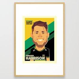 Teimana Harrison - Northampton Saints Framed Art Print