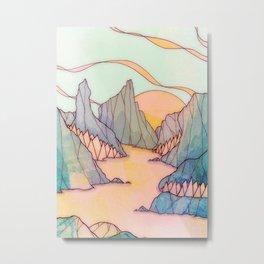 The calming lands  Metal Print