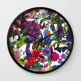Botanical Butterflies Wall Clock